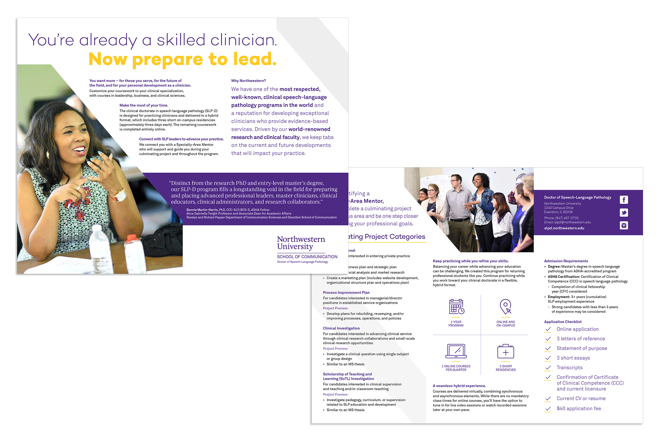 Flyer designs by Virtual Apiary for Northwestern University