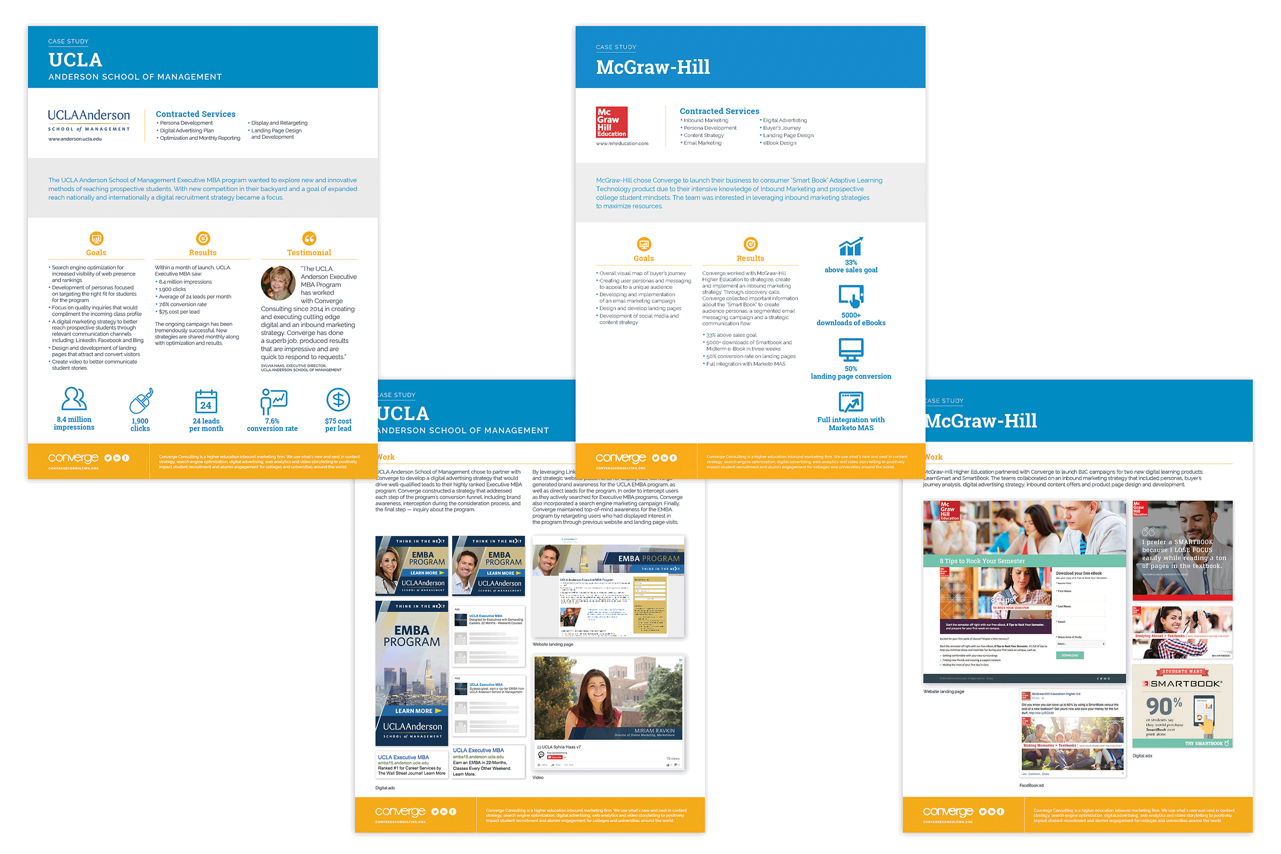 Brochure design by Virtual Apiary for McGraw Hill