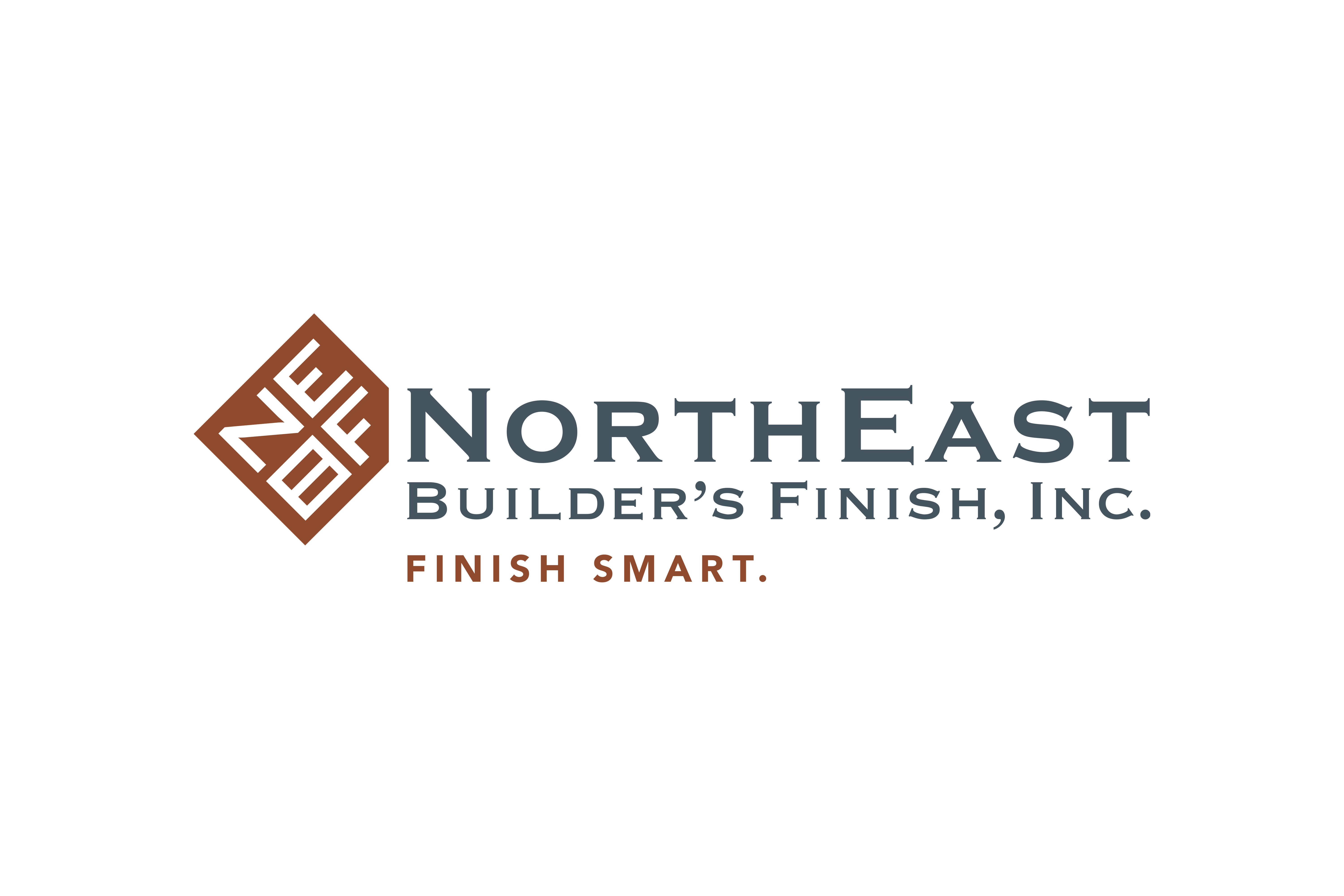Logo design by Virtual Apiary for NorthEast Builder's Finish, Inc.