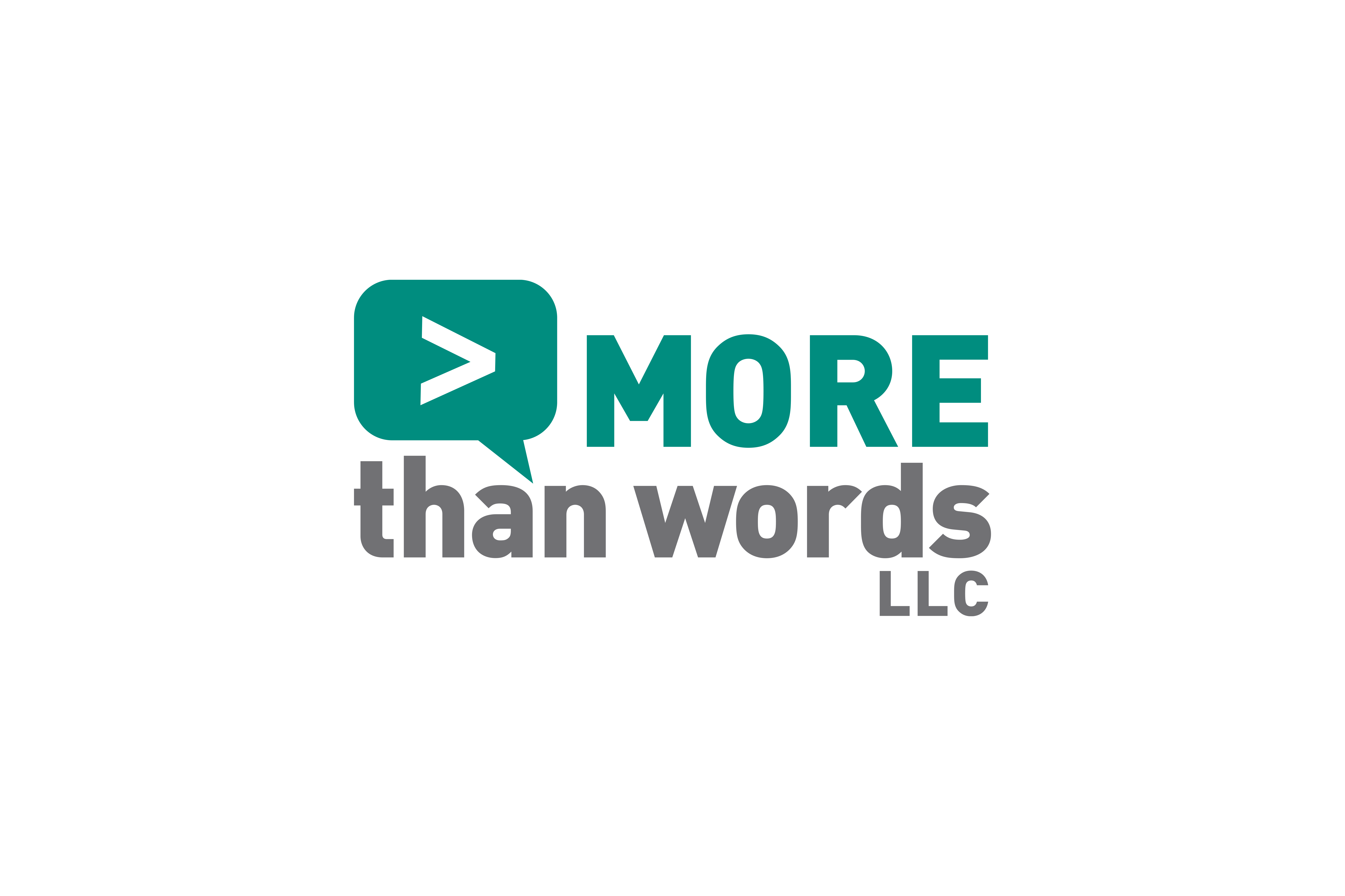 Logo design by Virtual Apiary for More Than Words, LLC