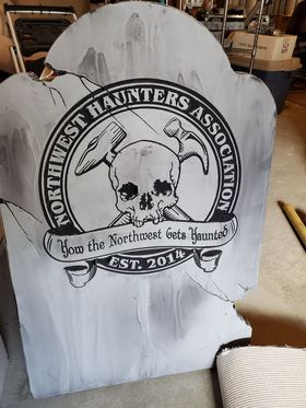 A great example of one of Roger's tombstones for the NW Haunters Association