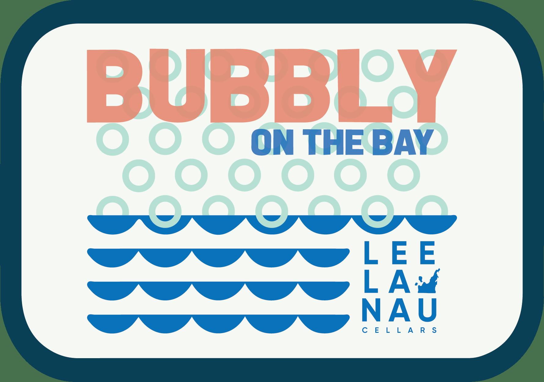 Logo of bubbly on the bay