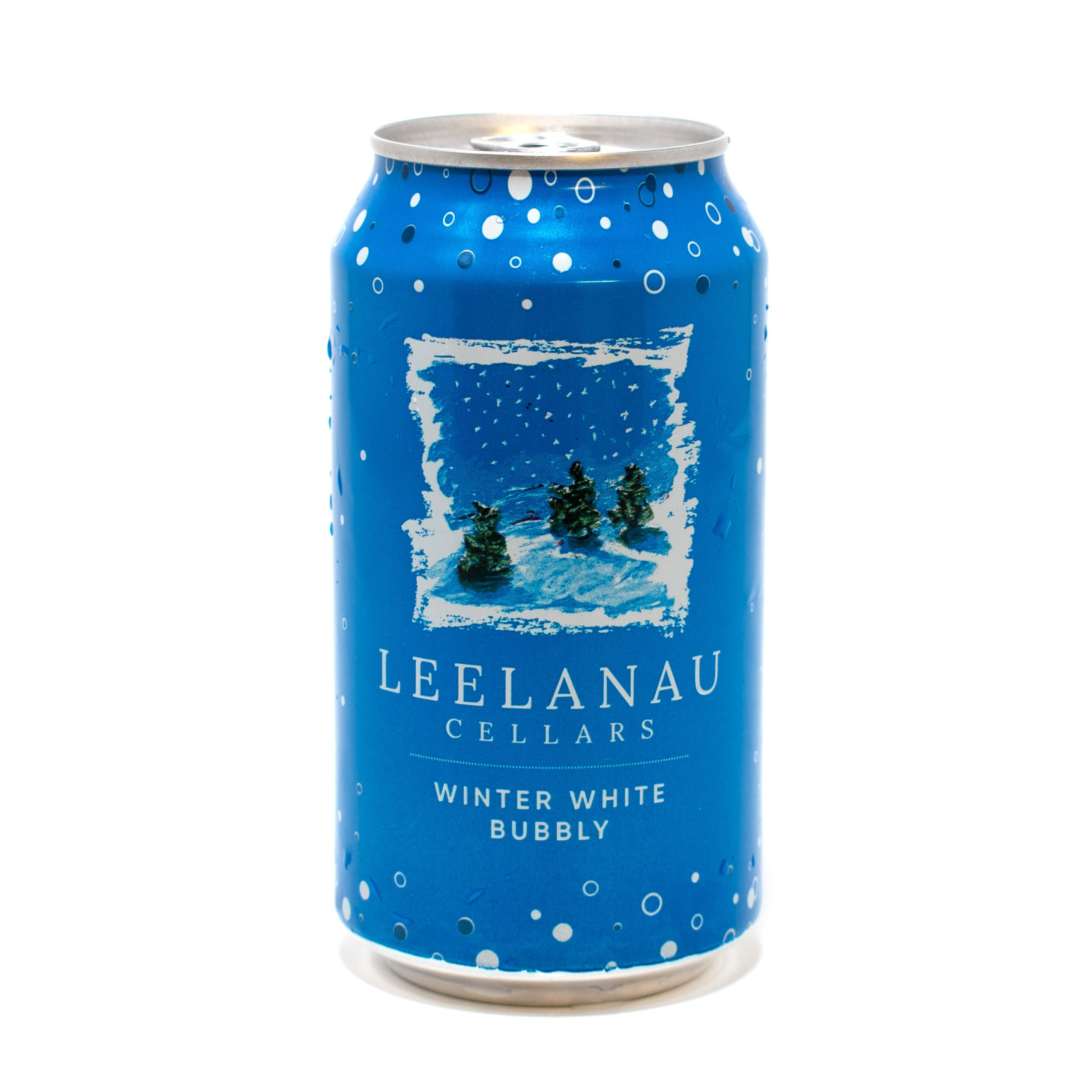 Winter White Bubbly Canned Wine