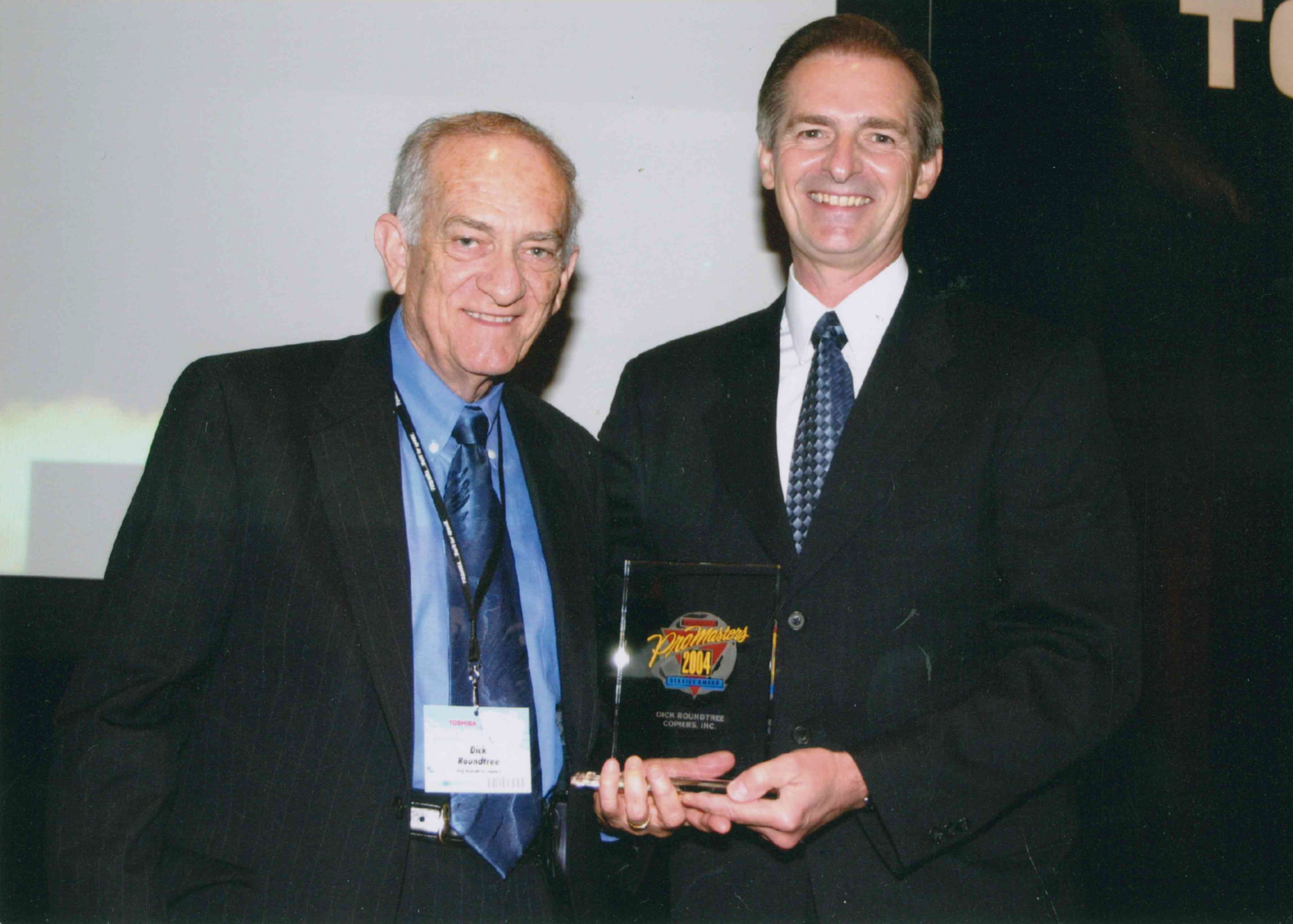 Dick Roundtree Toshiba award
