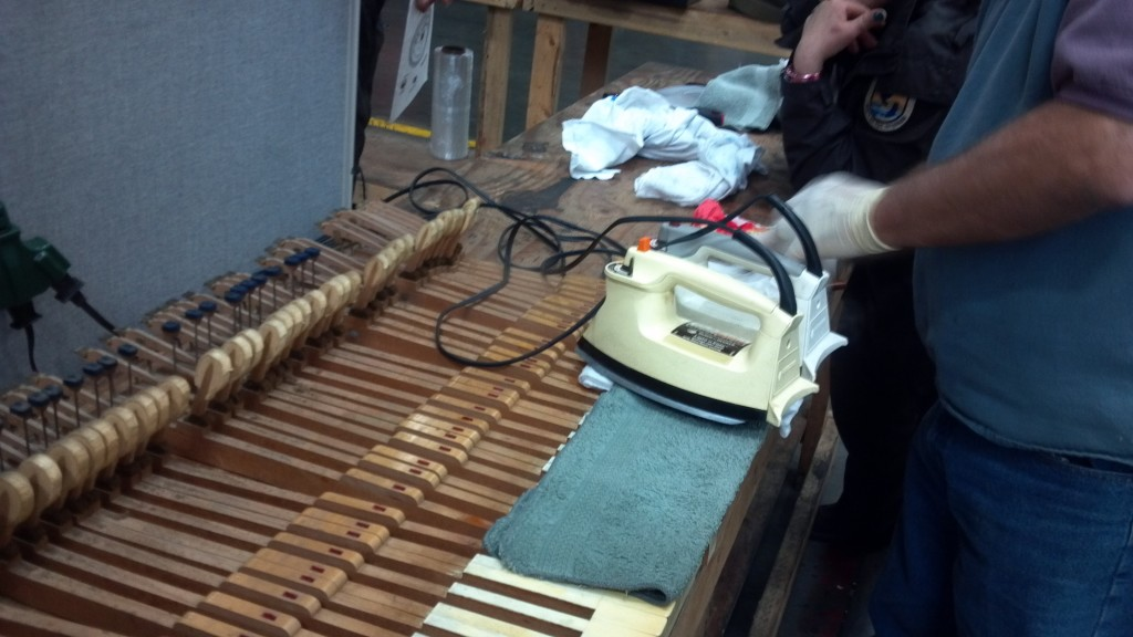 Repair of action, keys, Ivories, Strings