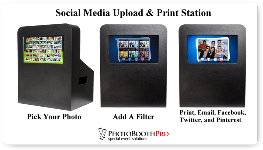 Social Media Upload Station by Photo booth Pro
