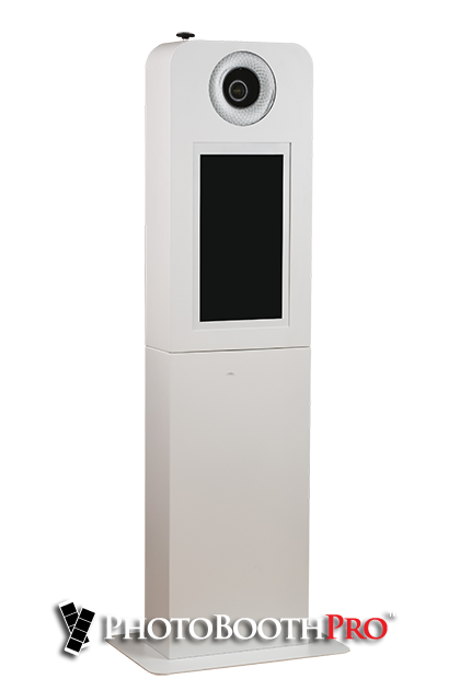 Photo Booth For Sale - Selfie Max Photo Kiosk all in one angle look