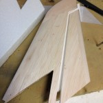 Rudder cut and ready for the next step