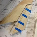 Rudder LE glued in place and dorsal spar test fit