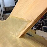 Rudder test fit with before glassing