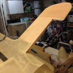 Final test fit of the dorsal before fibreglass