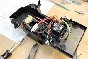 Pumpkin chassis with electronics installed