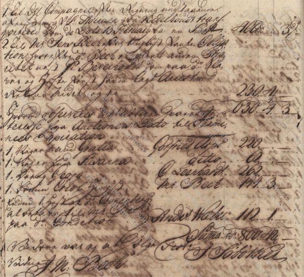 Johan Cronenberg auction, April 27, 1750