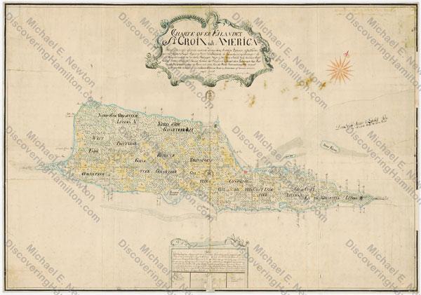 Johan Cronenberg map of St. Croix, ca. 1750