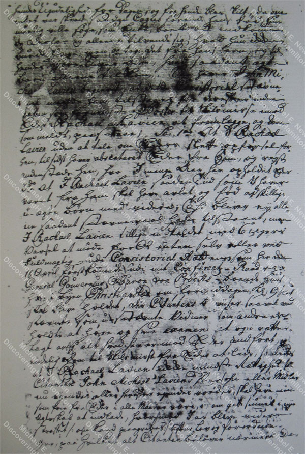 John Michael Lavien divorce filing, February 26, 1759