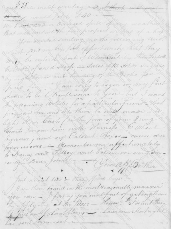 Nicholas Cruger to John Harris Cruger, March 19, 1772
