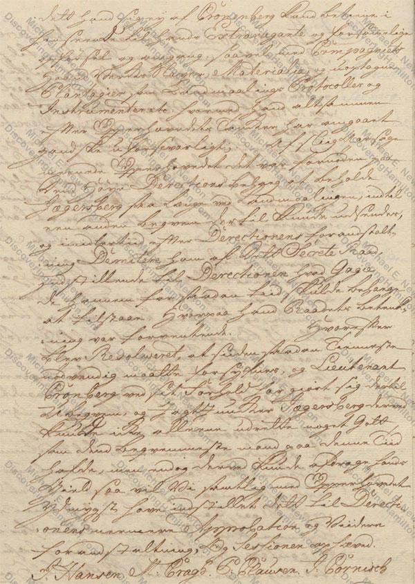 St. Croix Privy Council, January 7, 1750, about Rachel Faucett Lavien and Johan Cronenberg