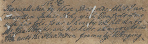 James Ash deed to Isaac Evans, March 29, 1751