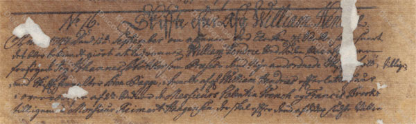William Hendrie of St. Croix, probate record