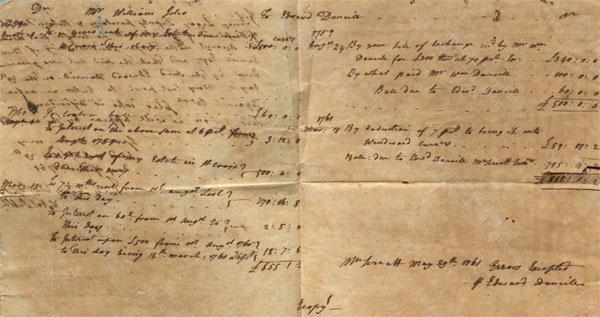 William Iles account with Edward Daniel
