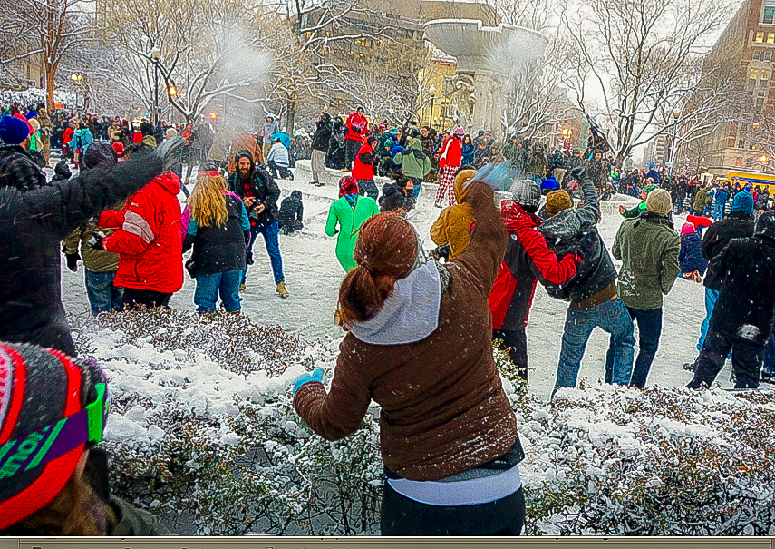 DC Snowballers in Dupont Circle