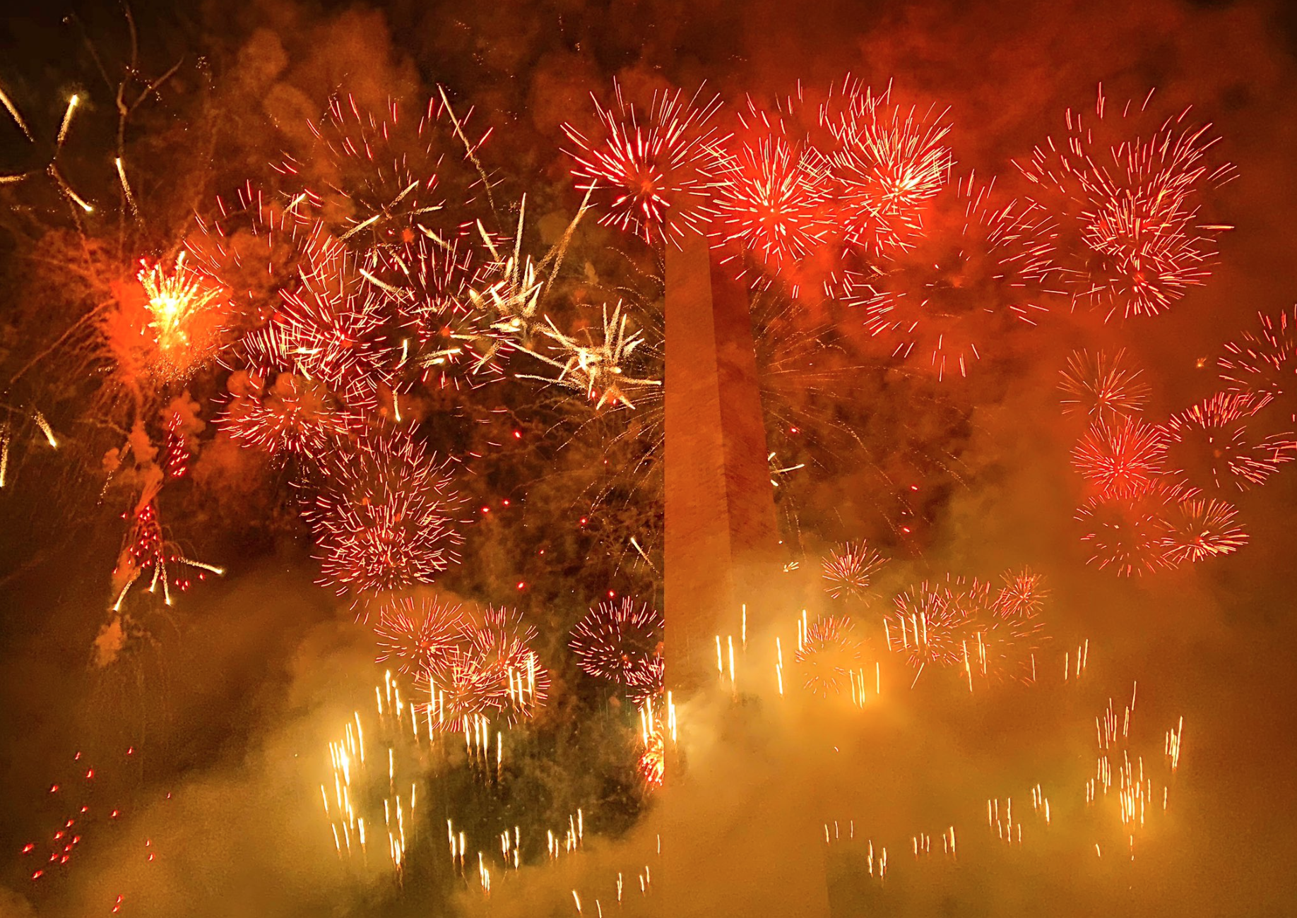 Trump's Salute to America fireworks on the National Mall, July 4th 2020