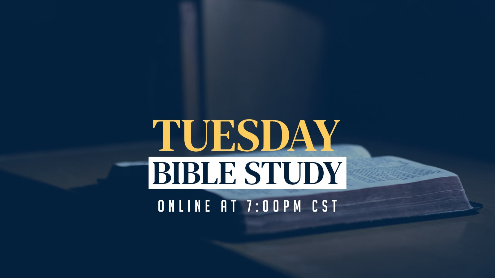 Tuesday Bible Study with Pastor Abraham Adesayo