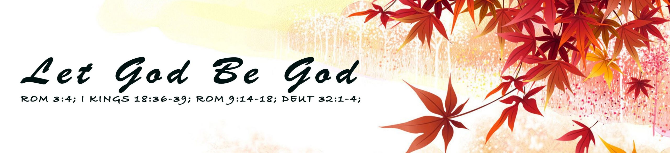 Read more about the article Let God Be God