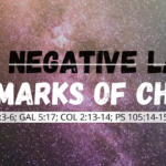 Replacing negative labels with the marks of Christ
