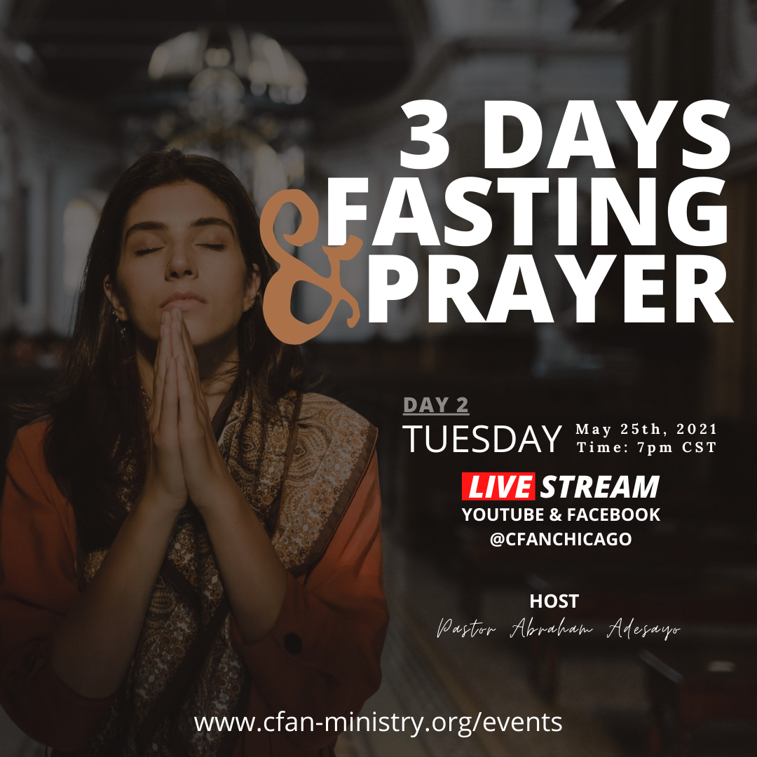 3 Days Fasting and Prayer - Day 2