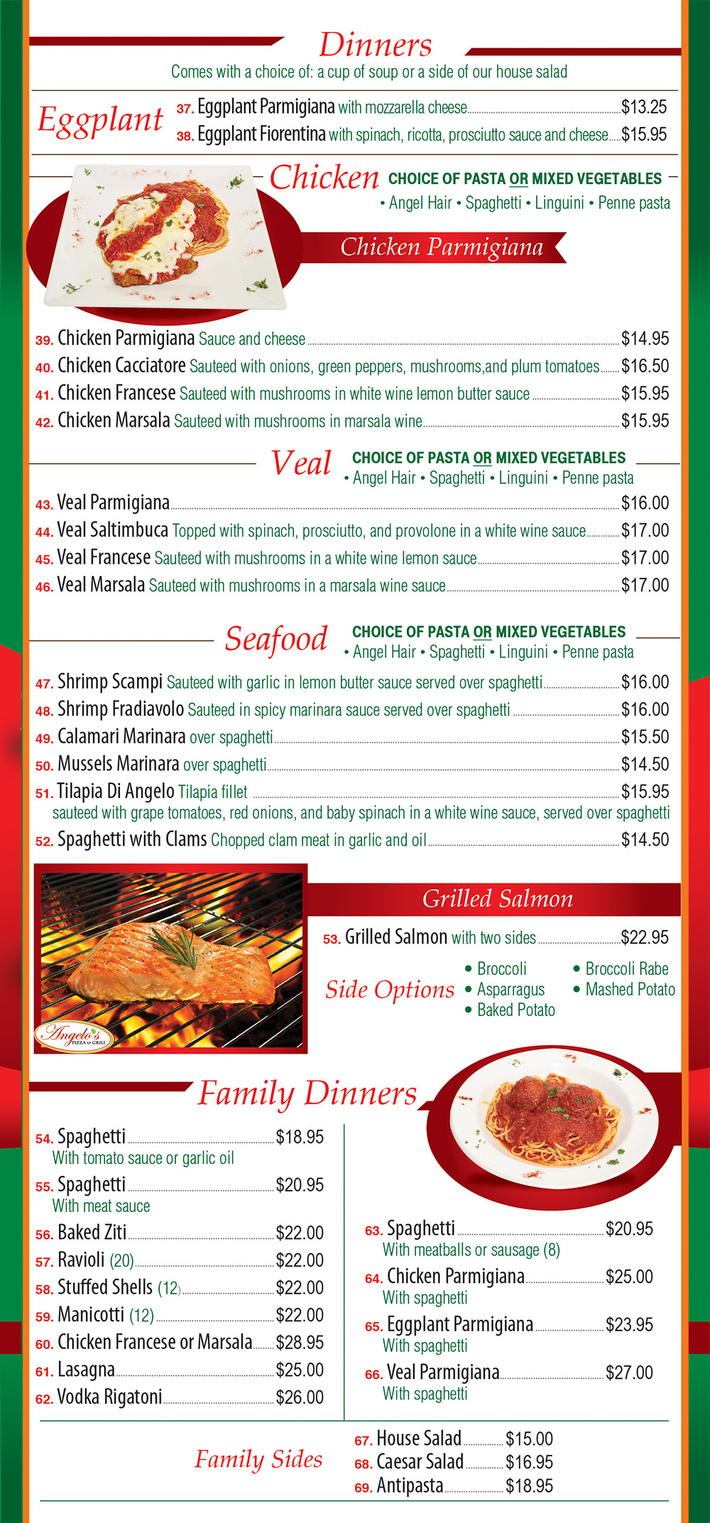 Angelo's Pizza Menu Page 3