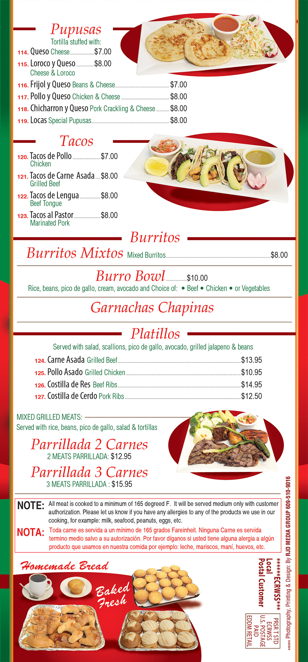 Angelo's Pizza Menu Page 6