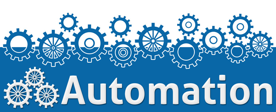 Automation Text With Gears On Top
