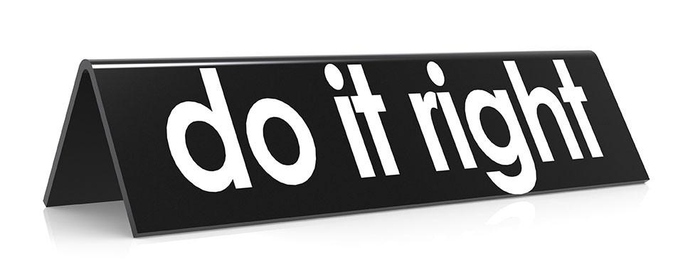 Do it right marketing