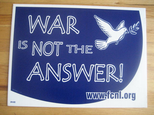 War_IS_NOT_THE_Answer