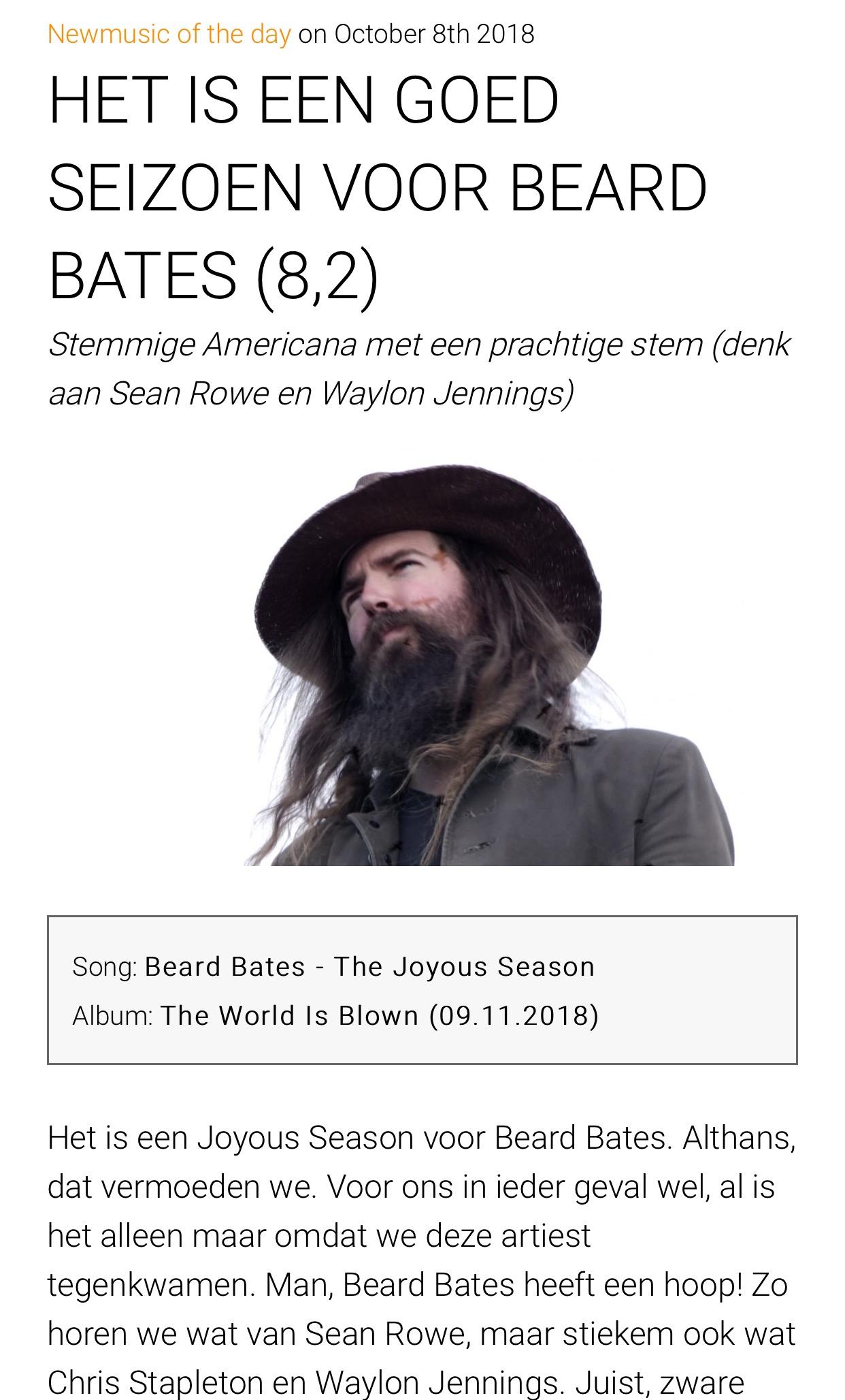 Beard Bates - Gobsmag - Joyous Season Feature