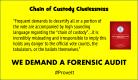 Chain of Custody Cluelessness