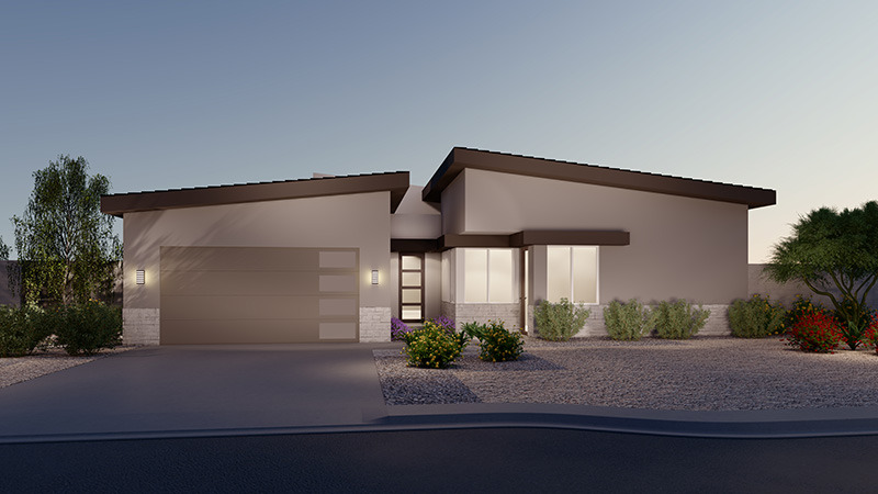 Rendering of Elevation 3A