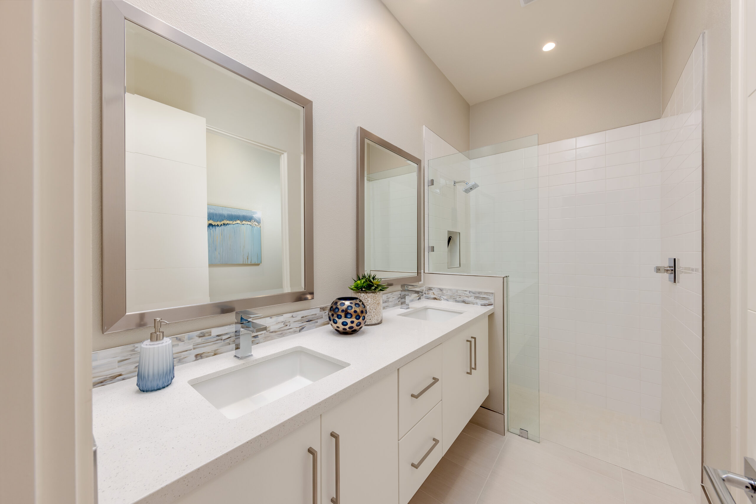 Residence 2: Primary bathroom with dual vanity