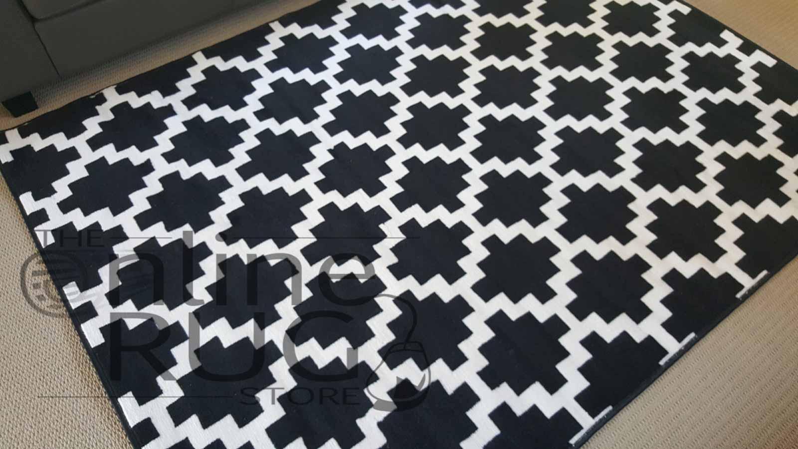 Industry Black White Geometric Diamond