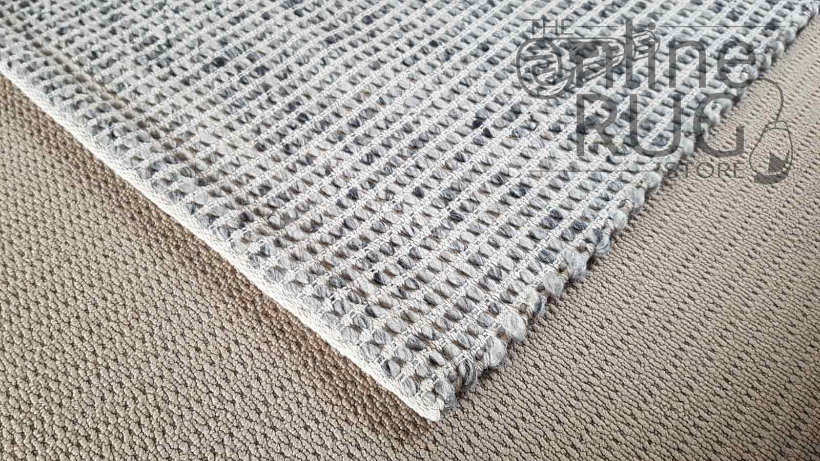 Grey Scandinavian Felted Wool Rug