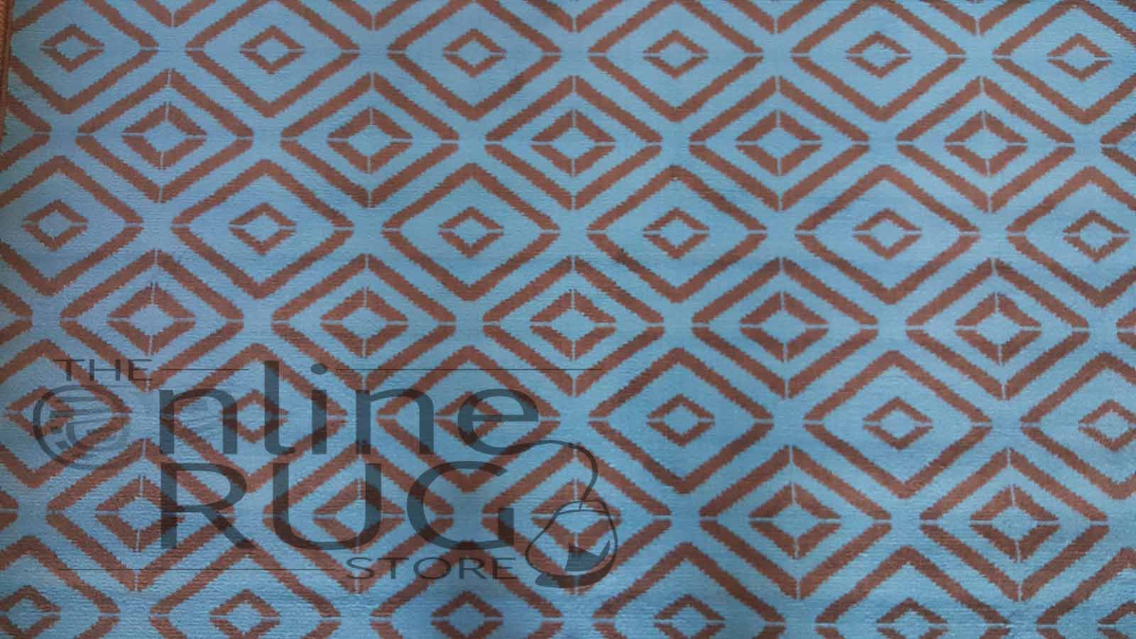 Studious Blue and Grey Geometric Diamond