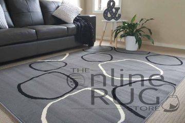 Modern Hoops Grey Black Designer