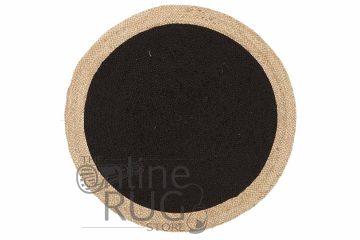Polo Black Jute Round