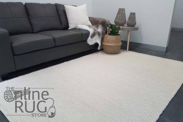 Essence Armani Multi Weave Natural White Felted Wool Rug