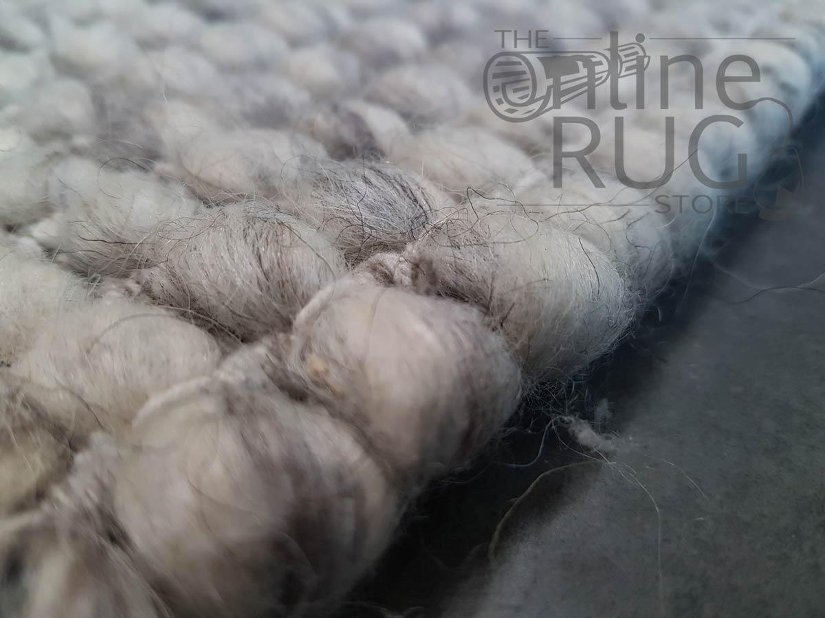Darcy Light Grey Felted Wool Rug