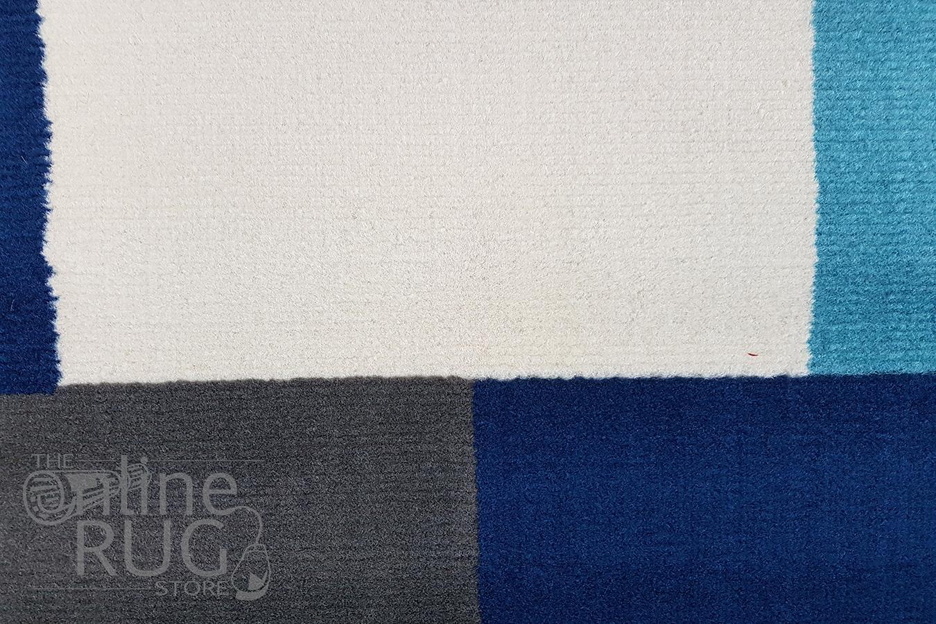 Industry Blue Multicoloured Tiles Rug