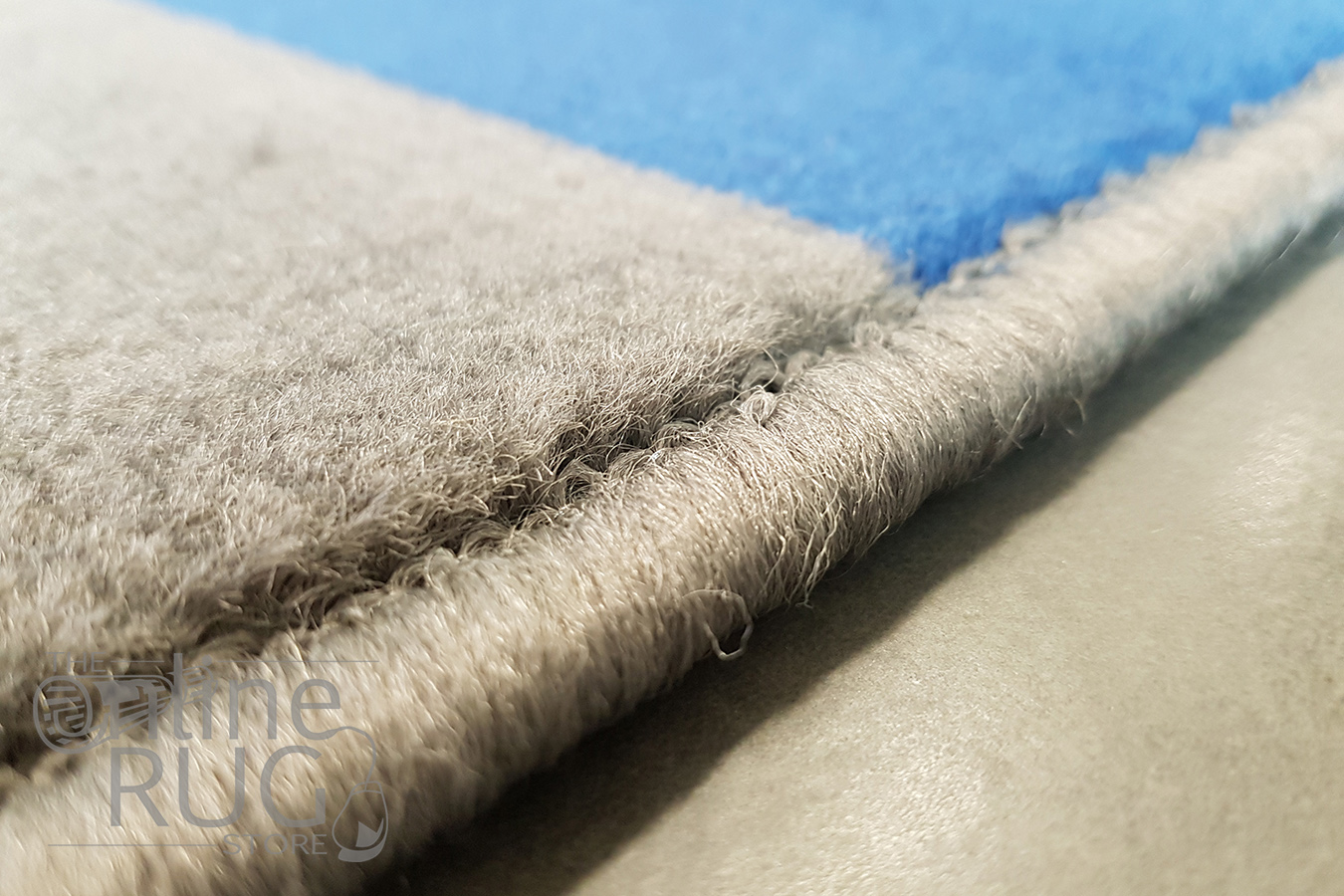 Industry Galaxy Blue Grey Lines Rug