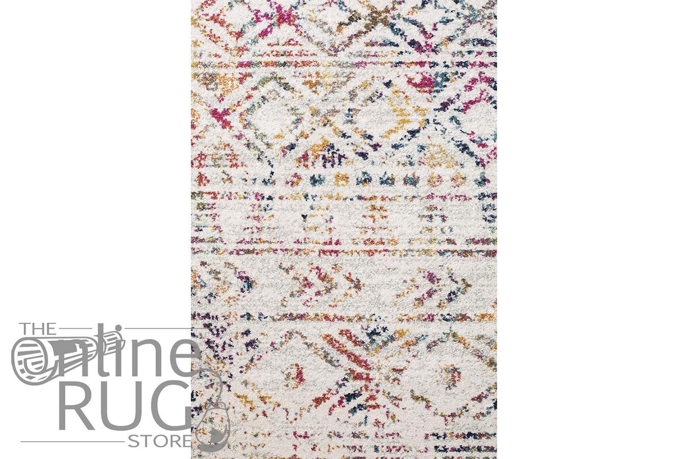 Heaven Multicolour Tribal Geometric Diamond Rug