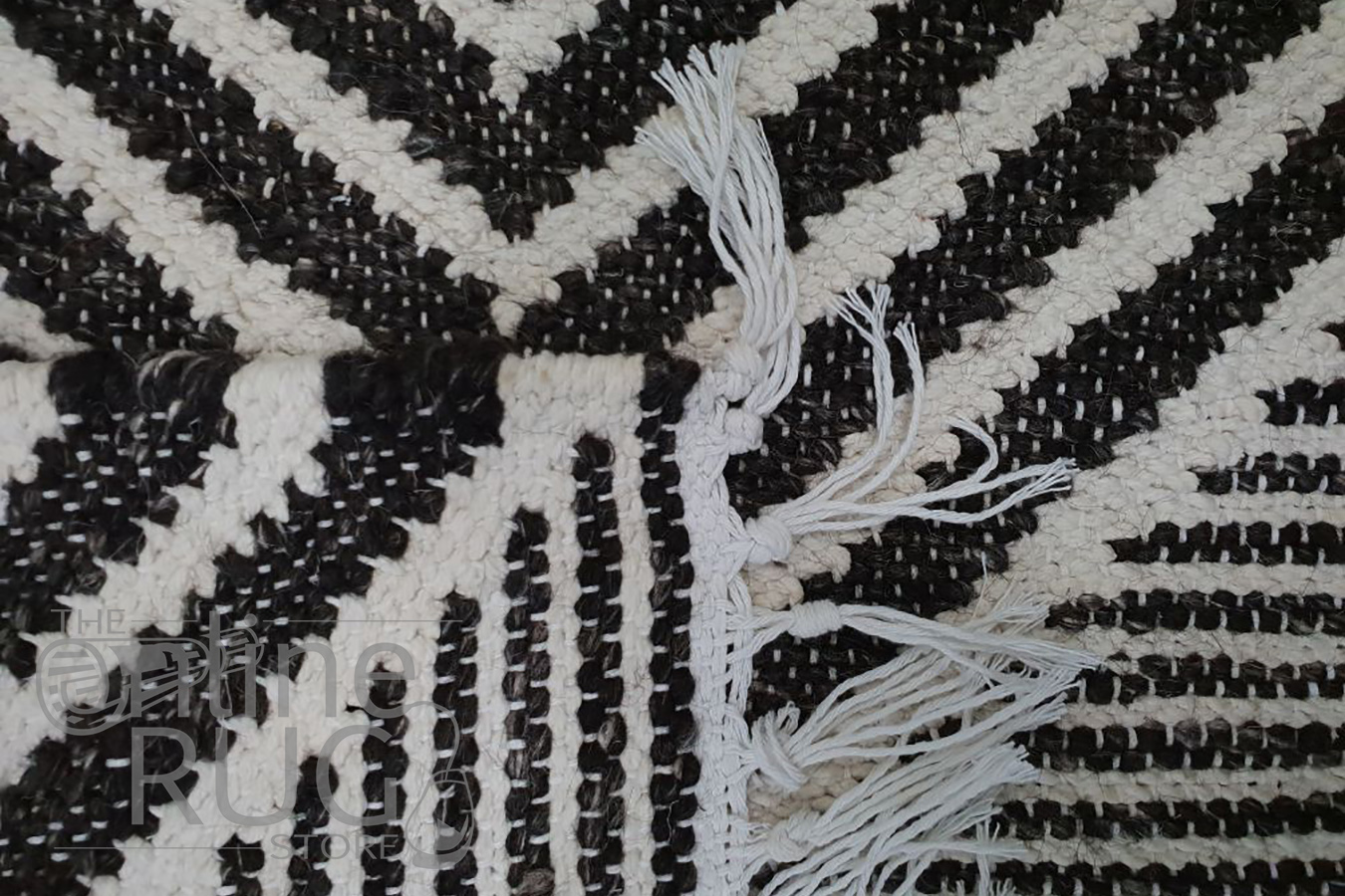 Bohemian Brown Charcoal Diamond Rug